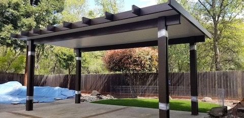 Free-Standing Patio Cover in Sacramento